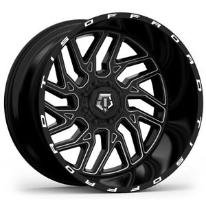 4 tis 544bm 26x14 6x135 6x5 5 76mm Black milled Wheels Rims 26 Inch
