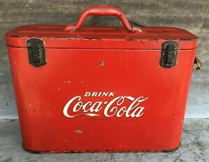 *Vintage 1940's 1950's COCA COLA AIRLINE COOLER with Wall Mount Opener