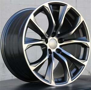 Set Of 4 22 22x10 22x11 5x120 Wheels Tires Pakcage Fit Bmw X5 X6 X5m X6m
