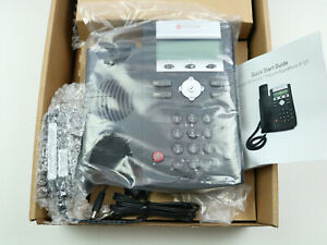 Polycom Soundpoint Ip 331 Poe 2 Line Voip Phone 10 100 Ethernet With Psu