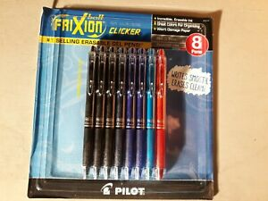 Pilot Frixion Ball Erasable Gel Pen 0 7mm Point 8 Pack Pouch 31569