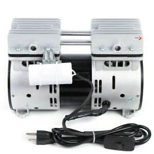 Electric Oilless Diaphragm Vacuum Pump 67l min Oil free Air Diaphragm Pump 550w