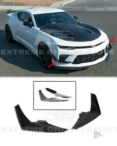 Glossy Black Side Canards For 16 18 Chevy Camaro Ss Front Bumper Pair Dive Plane