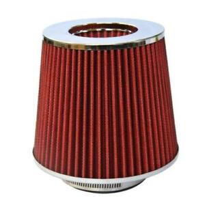 Red Universal 4 Inch 4 Inlet Short Ram Turbo Cold Air Flow Intake Filter