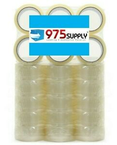 36 Rolls Package Box Carton Sealing Tape 1 6mil 2 X 55yd crystal Clear
