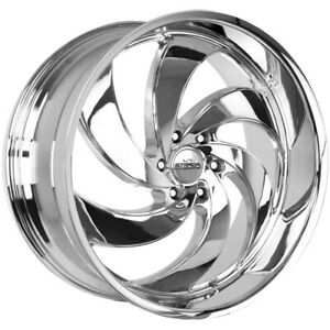 4 strada C06 Retro 6 26x10 6x5 5 26mm Chrome Wheels Rims 26 Inch