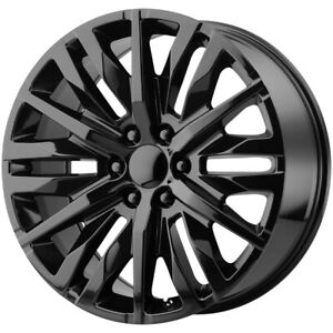4 replica 198gb Gmc Chevy 26x10 6x5 5 31mm Gloss Black Wheels Rims 26 Inch
