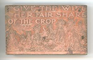 Give Wife Fair Share Of Crop Med 2 25 x4 Vintage Letterpress Printers Block