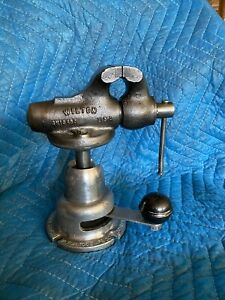 Wilton 2 Baby Bullet 820 Machinist Bench Vise On Powrarm Junior Ball Base Nice