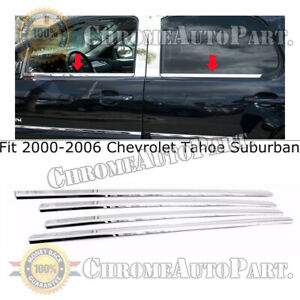 For 2000 2006 Chevrolet Suburban Stainless Steel Chrome Window Sills Trim