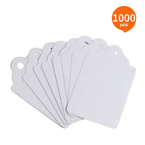 Femeli Unstrung Marking Tags 1000 Pcs Price Tags 1 75 X 1 1 Inches white Tags