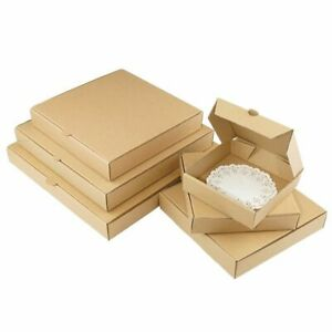 10pcs kraft Box Pizza Box 3 layer Corrugated Gift Box Photo Album Square Girl