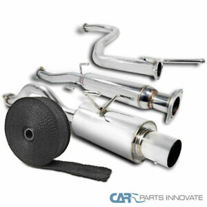 For 92 95 Civic 3dr Hatchback S s Catback Exhaust Muffler System pipe Wrap ties