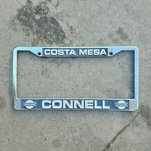 Costa Mesa Connell Nissan Metal Dealer License Plate Frame Holder