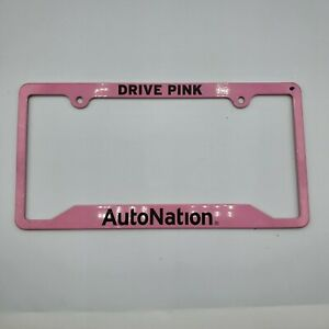 Drive Pink Auto Nation Metal License Plate Frame Holder