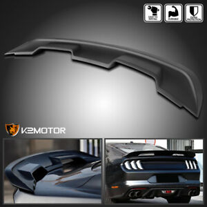 Fits 2015 2020 Ford Mustang Gt500 Style Matte Black Rear Trunk Spoiler Wing Lid