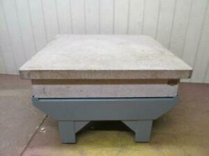 Herman Surface Plate 48 X 48 Precision Inspection Table On Stand Grade A