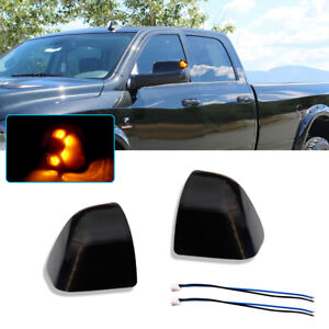 Smoke Lens Amber Led Side Mirror Turn Signal Lights Lamps For Ram 1500 2500 3500