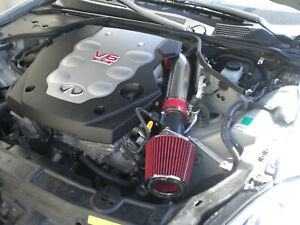 Air Intake Filter Kit For 2003 2006 Nissan 350z Infiniti G35 3 5l V6 Red