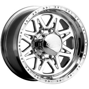 4 new 16 Inch Raceline 888 Renegade 8 16x10 8x170 25mm Polished Wheels Rims