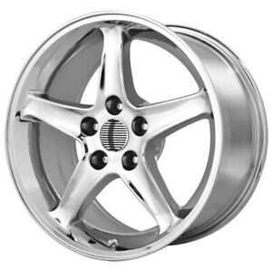 4 oe Creations 102c Mustang Cobra R 17x9 4x108 18mm Chrome Wheels Rims 17 Inch