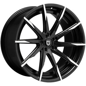 4 lexani 15css mbt 24x10 5x115 20mm Black machined Wheels Rims 24 Inch