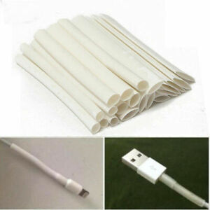 20x White 3 4 1 Heat Shrink Tube Wire For Data Cable