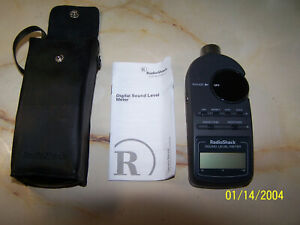 Digital Sound Level Meter Realistic Radio Shack 33 2055 W Case Instructions