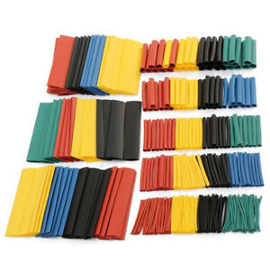164pcs Heat Shrink Tubing Insulated Shrinkable Tube Wire Cable Sleeve Kit irhh