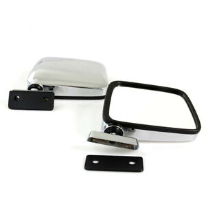 Fit For 60 86 Datsun Nissan 720 Pickup Truck Door Mirrors Left Right Chrome Pair