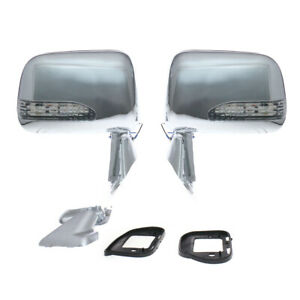 88 1997 Fit Toyota Hilux Pickup Truck Chrome Led Door Mirror Pair Rn80 90 Rn101