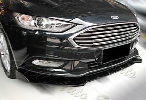 For 17 18 Ford Fusion Mondeo Painted Black Front Bumper Spoiler Body Lip Kit