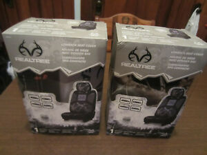 New Pair Realtree Apc Camoflage Seat Cover W Headrest Car Truck Suv Rsc7014