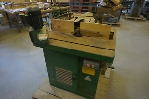 M6 Single 1 1 4 Spindle Shaper 6 6 Hp 220 V 3 Phase With 1 4 Hp Grizzley Feeder