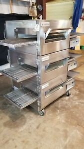 Lincoln Impinger 1132 Triple Stack Electric Conveyor Pizza Ovens video Demo