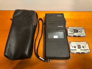 Philips Pocket Memo 585 Handheld Dictaphone With Cassettes And Case From 80 s