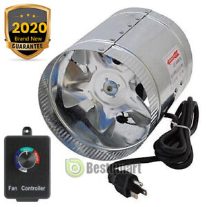 4 6 8 Duct Booster Inline Fan Blower Exhaust Ducting Cooling Vent controller