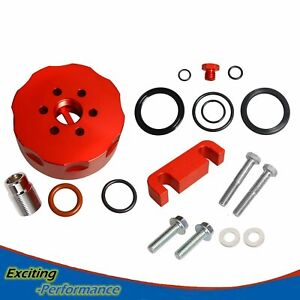Red Cat Fuel Filter Adapter Spacer Bleeder Seal Kit Fit Chevy 6 6l 2001 2006 New