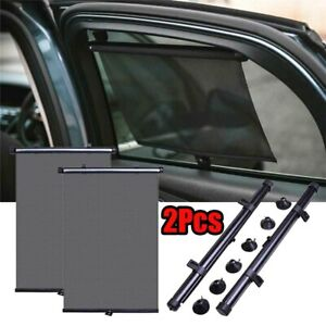 2 Pack Retractable Car Auto Side Window Baby Sun Shade Shield Cover Rollvisor Us