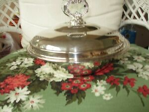 Vintage Silver Covered Casserole Dish