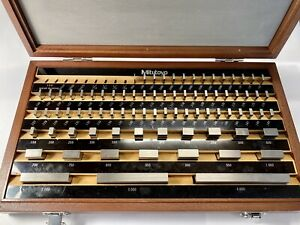Complete Mitutoyo 516 902 Grade 2 Gauge Block Set be1 81 2 81 Pc Nice