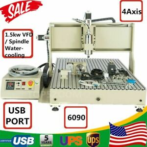 Top Usb 4 Axis Cnc 6090z Router Engraver Cutting Machine 1 5kw F Metal Nonmetal