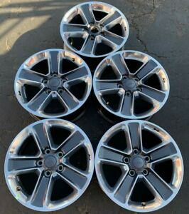Set Of 5 Oem Jeep Wrangler Sahara Jl Jk Grand Cherokee 18 Alloy Wheels 9221