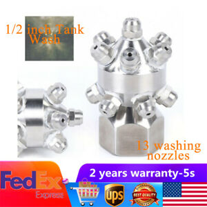 Solid Cone Nozzle Tank Wash 13pc Nozzle Water Rotating Cleaning Clean Nozzles Us