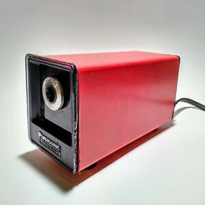 Vintage Panasonic Electric Pencil Sharpener Auto Stop Red Model Kp 77a