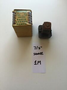 Greenlee No 731 7 8 Square Radio Chassis Punch Used 11 1 1m