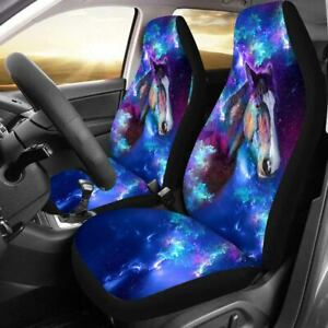 Car Front Seats Cover Horse Painted Universal Breathable Cushions For Truck Suv
