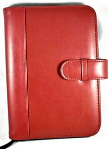 Plan Ahead Planner Organizer Faux Leather Burgundy Red 8 5 x6