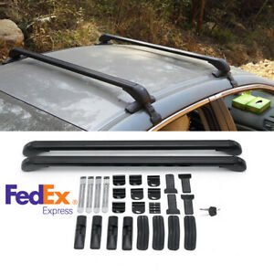2x Aluminium Alloy Roof Rack Overhead Side Rails Bars Luggage Carrier Universal