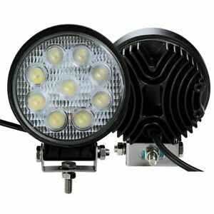 27w 5inch Led Round Work Light Spotlight Off Road Driving Fog Lamp Truck Boat